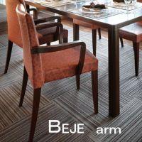 ベジェアームイス  スタッキング可能仕様 木部色2色 【張地・合成皮革Aランク】