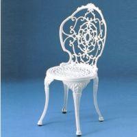 HOT-ホワイト がーデンチェア       アルミ鋳物製品