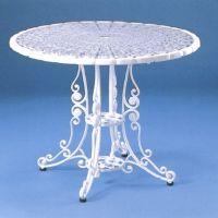 HOT ガーデンテーブル ビニールマット付き アルミ鋳物製品