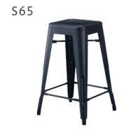 バンガススツール S65 塗装色ブラック    H650
