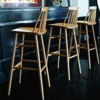 ウィンストンS wooden bar stool